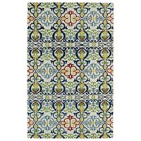 Kaleen Global Inspirations Suzani 3-Foot 6-Inch x 5-Foot 6-Inch Multicolor Area Rug