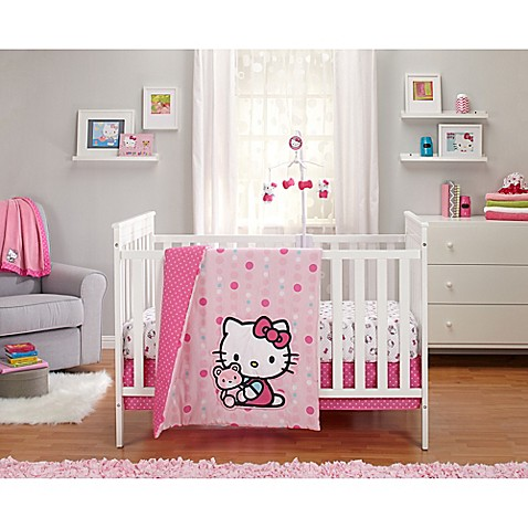Hello Kitty 174 Cute As A Button Crib Bedding Buybuy Baby