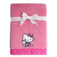 Hello Kitty® Cute as a Button Coral Fleece Blanket