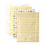 BabyVision® Luvable Friends® 4-Pack Stripes Flannel Receiving Blankets in Yellow