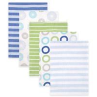 BabyVision® Luvable Friends® 5-Pack Pinwheel Flannel Receiving Blankets in Blue