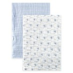 BabyVision® Hudson Baby® 2-Pack Sheep Muslin Swaddle Blankets in Blue