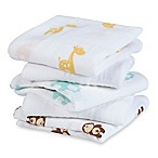 aden® by aden + anais® 5-Pack Safari Friends Musy Muslin Squares in Flax