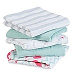 aden by aden + anais® 5-Pack Light Hearted Musy Muslin Squares in Pink