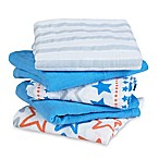 aden by aden + anais® 5-Pack Small Fry Musy Muslin Squares in Light Blue