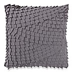 Anthology™ Mina Box Pleat Throw Pillow in Charcoal