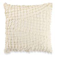 Anthology™ Mina Box Pleat Throw Pillow in Vanilla
