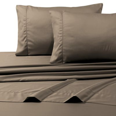 800 Thread Count Egyptian Cotton Deep Pocket King Sheet Set In Taupe