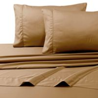 800-Thread-Count Egyptian Cotton Deep Pocket Queen Sheet Set in Cafe