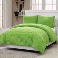 VCNY Rose Fur 2-Piece Twin Comforter Set in Green
