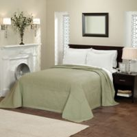 French Tile King Bedspread in Sage