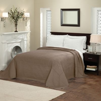 French Tile King Bedspread In Taupe