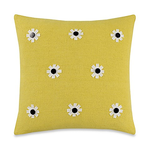 Throw Pillows One Kings Lane : kate spade new york Flower Throw Pillow in Daffodil - Bed Bath & Beyond