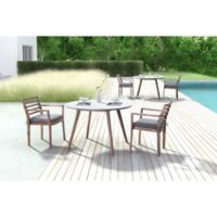 Zuo® Elite Outdoor Dining Table with Dark Walnut Finish