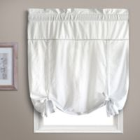 Dorothy Tie-Up Window Shade in White