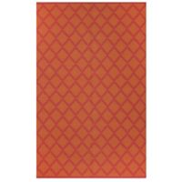 Fab Habitat Marrakesh Diamonds 4-Foot x 6-Foot Area Rug in Orange/Rouge Red