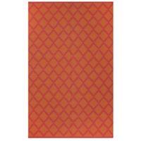 Fab Habitat Marrakesh Diamonds 5-Foot x 8-Foot Area Rug in Orange/Rouge Red