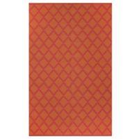 Fab Habitat Marrakesh Diamonds 6-Foot x 9-Foot Area Rug in Orange/Rouge Red