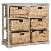 Safavieh Keenan 6-Wicker-Basket Storage Chest in Winter