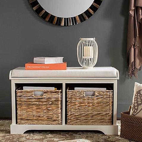 happimess by safavieh freddy wicker storage bench