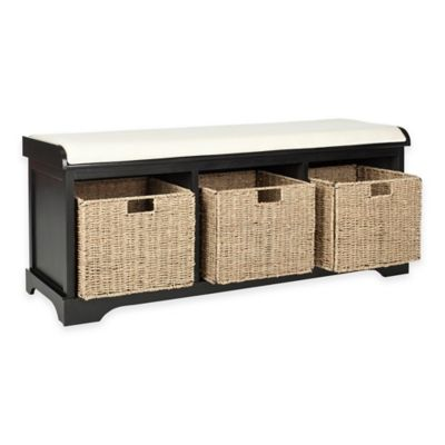 Charmant Safavieh Lonan Storage Bench In Black/White