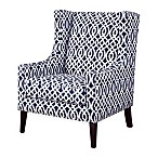 Madison Park Barton Wing Chair in Navy