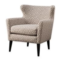 Madison Park Concave Club Chair in Grey/Beige