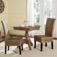 Safavieh Arjun Wicker Dining Chairs in Grey (Set of 2)