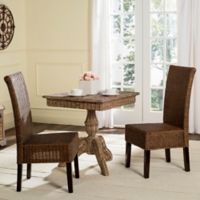Safavieh Arjun Wicker Dining Chairs in Brown Multi (Set of 2)