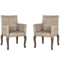 Safavieh Armando Wicker Dining Chair in White Washed