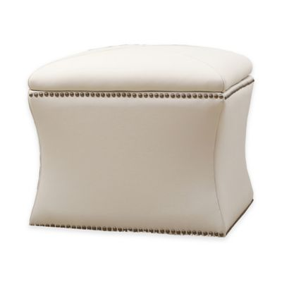 Abbyson Living® Monica Pedersen Samantha Storage Ottoman in Ivory - Buy Storage Ottoman Furniture From Bed Bath & Beyond