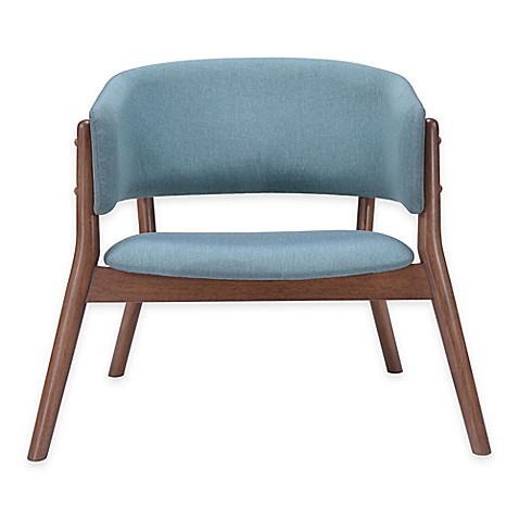 image of Zuo® Chapel Lounge Chairs in Blue (Set of 2)