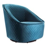 Zuo® Pug Swivel Chair in Aquamarine