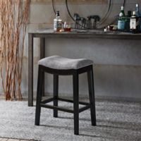 Madison Park Belfast Counter Stool in Grey/Black