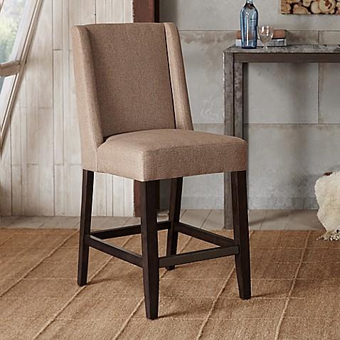 Madison Park Brody Counter Stool In Taupe Bed Bath Amp Beyond