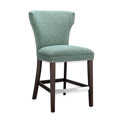 Madison Park Churchill Counter Stool In Teal Bed Bath