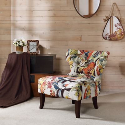 Madison Park Erika Hourglass Tufted Armless Accent Chair Part 72