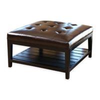 Abbyson Living® Villagio Table Ottoman in Dark Brown
