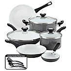 Farberware® PURECOOK™ Ceramic Nonstick 12-Piece Cookware Set in Grey