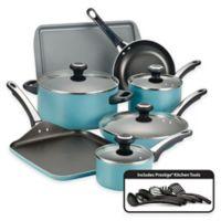 Farberware® High Performance Nonstick Aluminum 17-Piece Cookware Set in Aqua