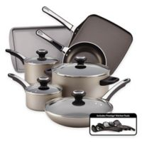 Farberware® High Performance Nonstick Aluminum 17-Piece Cookware Set in Chocolate