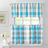 Harper 36-Inch Window Curtain Tier Pair in Blue