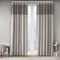 Madison Park Dune 95-Inch Rod Pocket Window Curtain Panel Pair in Grey/Black