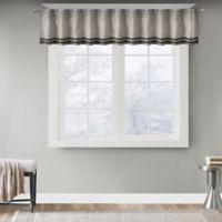 Madison Park Dune Window Valance in Grey/Black