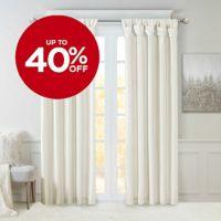 Madison Park Emilia 84-Inch Twist Tab Window Curtain Panel in White