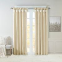 Madison Park Emilia 84-Inch Twist Tab Window Curtain Panel in Ivory