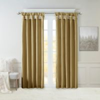 Madison Park Emilia 120-Inch Window Curtain Panel in Taupe