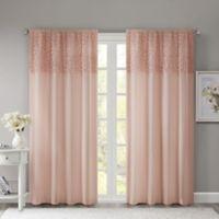 Madison Park Bessie 84-Inch Rod Pocket Window Curtain Panel in Pink