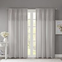 Madison Park Bessie 84-Inch Rod Pocket Window Curtain Panel in Grey