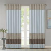 Madison Park Tradewinds 84-Inch Rod Pocket/Back Tab Window Curtain Panel in Blue